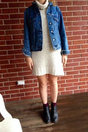 jacket - off white Gap dress