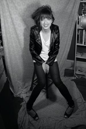 black Forever 21 jacket - white Old Navy shirt - blue Target jeans - black Marc