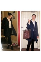 black Topshop jeans - black new look boots - navy Topshop jacket