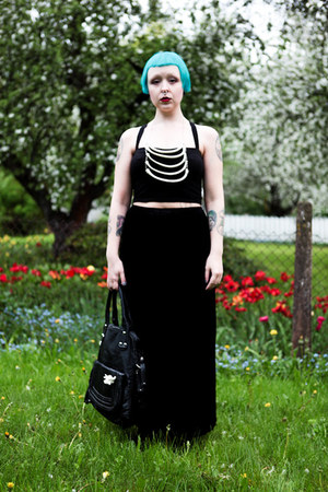 Osis bag - thrifted skirt - GINA TRICOT top - OS accessories