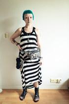 H&M dress - GINA TRICOT bag - blink sandals