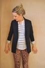 White-striped-river-island-t-shirt-mustard-leopard-print-topshop-leggings