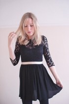 black lace asoscom dress - black gold band skirt Topshop skirt