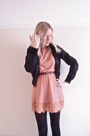leather new look jacket - Topshop dress