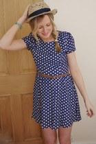 blue spotty Topshop dress