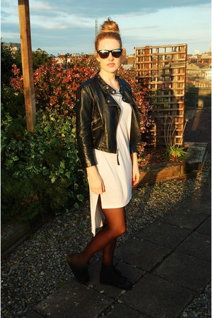 long Topshop top - cropped leather Topshop jacket