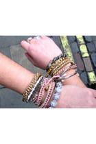 dark brown Cruciani bracelet - gold Aldo bracelet - silver GINA TRICOT bracelet