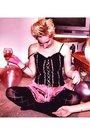 Pink-hell-bunny-dress-black-accessorize-tights-pink-bracelet-pink-gloves