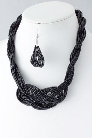 black Emma Stine necklace