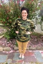 olive green Style Style  FIT sweatshirt - mustard Walmart pants