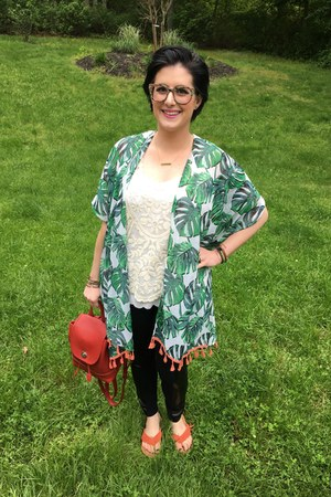 green Walmart cardigan - eggshell Target top - white Anthropologie top