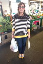 navy Levis jeans - navy Pink Rose sweater - white Michael Kors bag