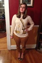 ivory Bea & Dot sweater - light brown Jean Lafont glasses
