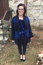 blue Adam Lippes x Target sweater - blue Walmart top - navy Faniel glasses