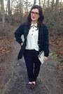 Pink-kate-spade-bag-navy-gap-pants-white-vintage-blouse