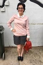black DV loafers - light pink Victoria Beckham x Target dress