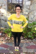 yellow from market in Thailand top - black Warby Parker glasses