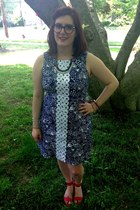 navy Lilly for Target dress - navy spike the punch necklace