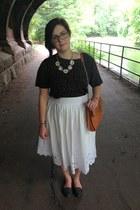 white thrifted banana republic skirt - brown Rebecca Minkoff bag