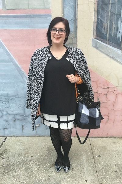 black Adam Lippes for Target dress - heather gray Betsey Johnson jacket