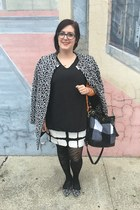 black Adam Lippes for Target dress - heather gray Betsey Johnson jacket