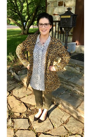 black Marc by Marc Jacobs glasses - gold Who What Wear  Target blazer