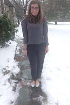 salmon baublebar necklace - heather gray Target sweatshirt