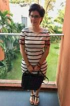 black from market in Bangkok bag - white Mindy Maes Market dress