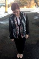 black second hand jeans - light pink Gap top - black gypsy warrior blouse
