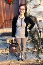 silver Target loafers - bronze Reed x Kohls bag