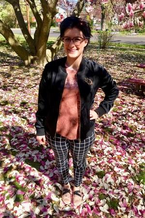 black Victoria Beckham x Target jacket - light pink via Hong Kong necklace