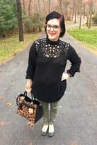 black Who What Wear x Target blouse - bronze Reed x Kohls bag