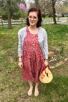 silver second hand cardigan - ruby red Shop Retro Glam dress