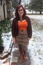 Brown-steve-madden-boots-brown-second-hand-cardigan