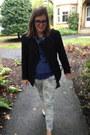 Navy-vintage-jacket-blue-vintage-top-navy-warby-parker-glasses