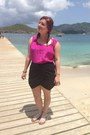 Camel-vintage-bag-black-lord-taylor-shorts-hot-pink-vintage-top