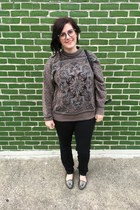 heather gray vintage sweater - black Adam Lippes for Target bag