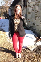 red Old Navy pants - black Target blazer - gold Local store necklace