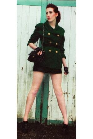 Chanel blazer - Chanel lambskin 255 purse - vintage from Ebay boots - vintage fr