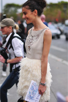 off white and ivory dress