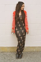 cross print dress