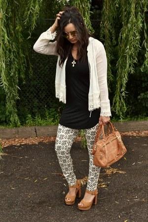 tawny Rebecca Minkoff purse - eggshell ikat print Zara purse
