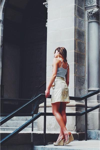 gold handmade Posh Skirts skirt