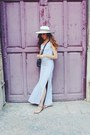 Silver-maxi-boutique-dress-white-woven-anthropologie-hat