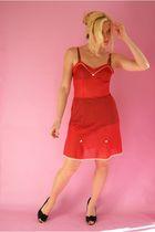 red st michael dress - black - black kayser intimate