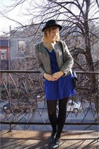 H&M hat - La Redoute shoes - Babassu Fashion dress - H&M jacket - vintage bag