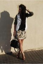 Zara vest - BLANCO shirt - BLANCO bag - Ebay bracelet - pull&bear skirt