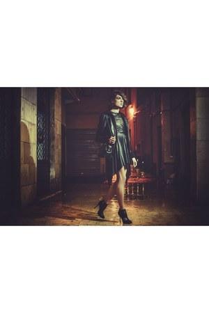black The seller boots - black MARIOS dress - black Givenchy jacket