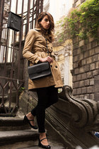 camel trench H&M coat - black Stiù shoes - black skinny Only jeans