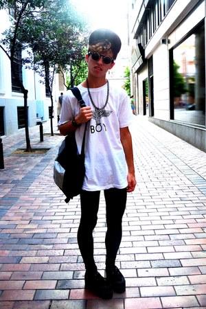 white Boy londons shirt shirt - black Shanas leggins leggings